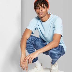Men's basic blue t-shirt